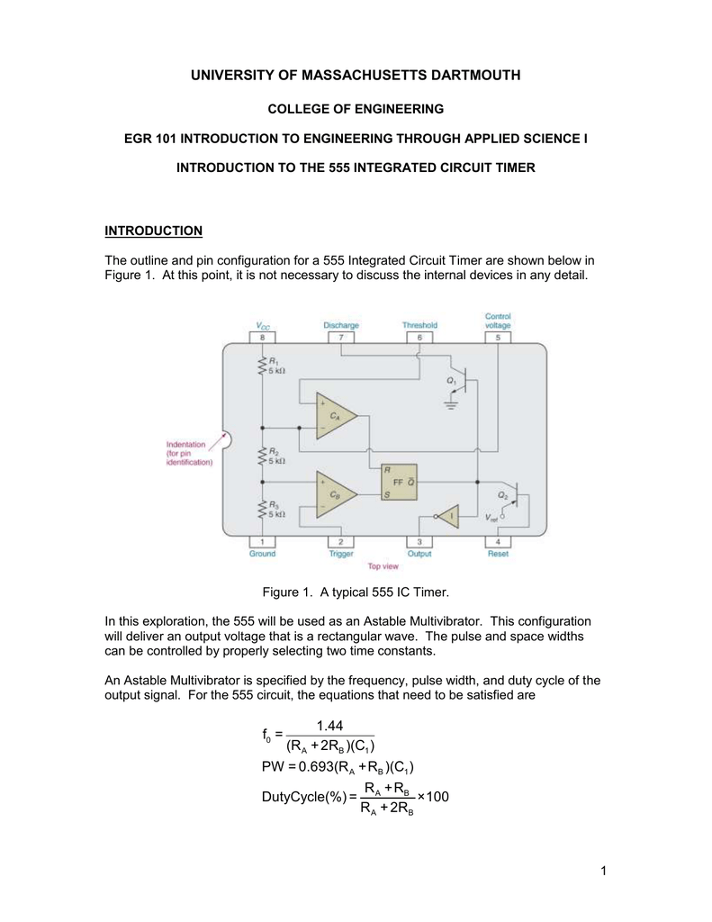 University Of Massachusetts Dartmouth 555 Timer Circuits Monostable 014969032 1 21ce5b14ffc01097193b6cf6935725ca