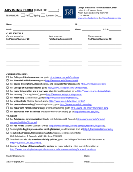 General Business Advising Form 2012: docx