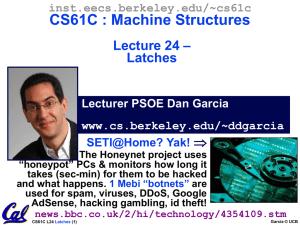 CS61C : Machine Structures