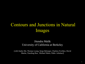 Contours and Junctions in Natural Images Jitendra Malik University of California at Berkeley