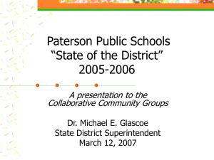 State of the District Presentation, 3-12-07