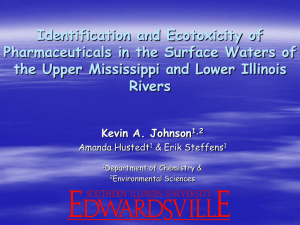 Identification and Ecotoxicity of Pharmaceuticals in the Surface Waters of