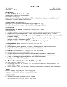 Sample Resume 1