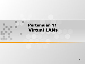Virtual LANs Pertemuan 11 1