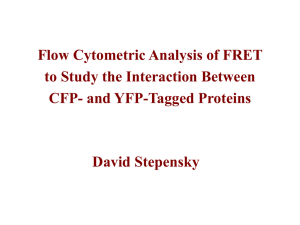Flow Cytometric Analysis of FRET to Study the Interaction Between David Stepensky