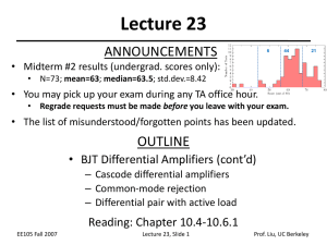 Lecture 23 ANNOUNCEMENTS