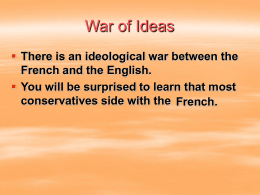 War of Ideas