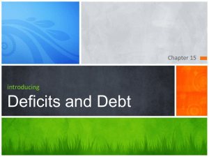 Chapter 15 Deficit and Debt Introdcution 1