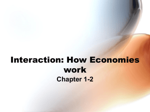 Interaction: How Economies Work PowerPoint