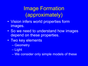 Image Formation (approximately)