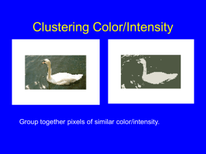 Clustering Color/Intensity Group together pixels of similar color/intensity.
