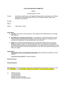 FACILITIES RESOURCE COMMITTEE  Minutes Tuesday January 13, 2015