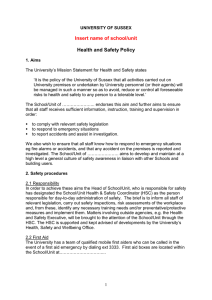 Low risk School/Unit Health and Safety Policy Template