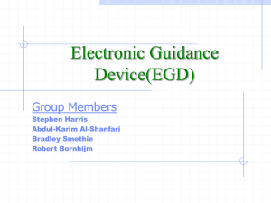 Electronic Guidance Device(EGD) Group Members Stephen Harris