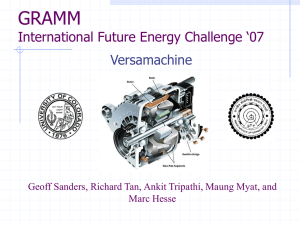 GRAMM International Future Energy Challenge '07 Versamachine