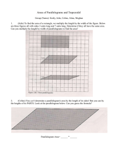 Worksheet from The Parallelogirls