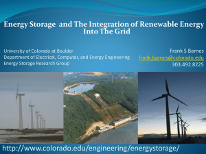 Energy Storage  and The Integration of Renewable Energy
