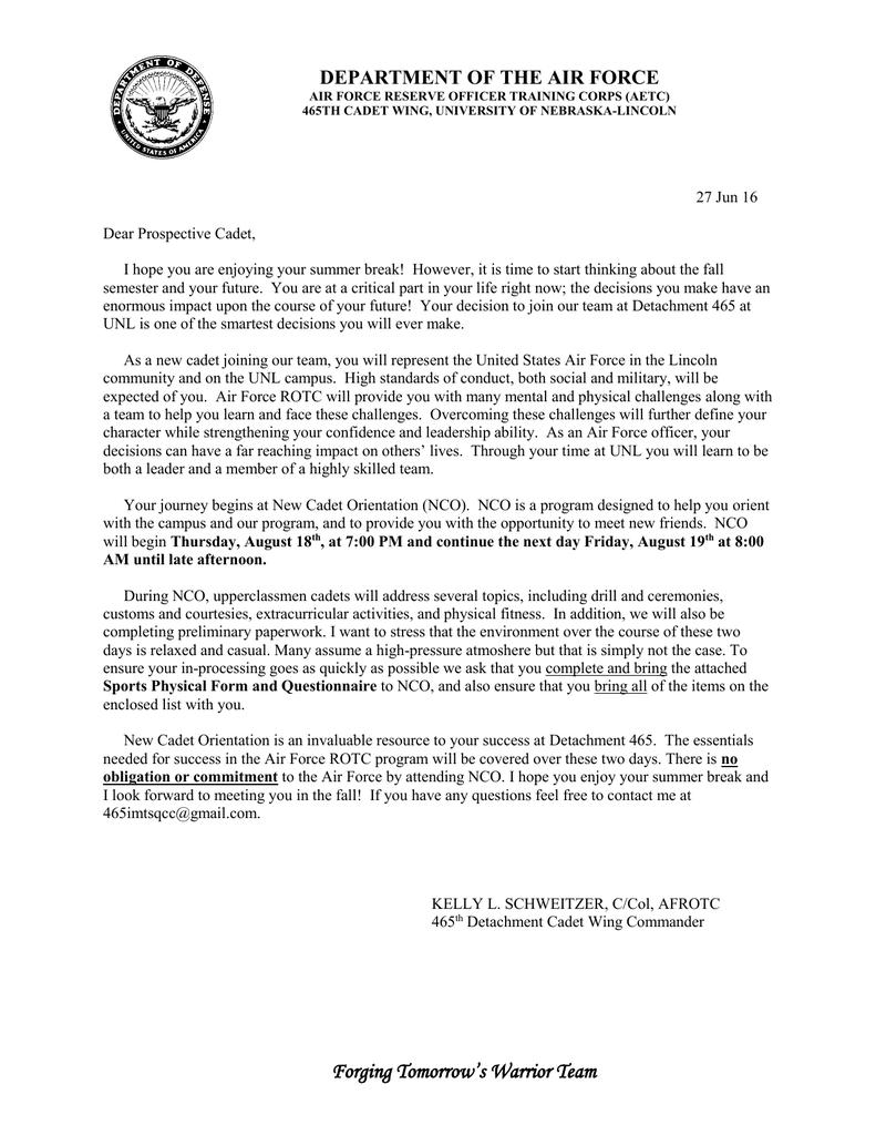 NCO Invitation Letter