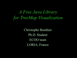 A Free Java Library for TreeMap Visualization Christophe Bouthier Ph.D. Student