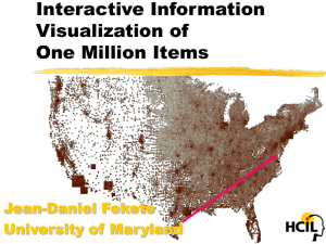 Interactive Information Visualization of One Million Items Jean-Daniel Fekete
