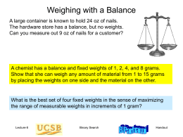 Weighing with a Balance