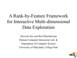 A Rank-by-Feature Framework for Interactive Multi-dimensional Data Exploration