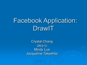 Facebook Application: DrawIT Crystal Chang Jacy Li