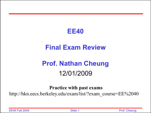 Final Exam Review   Powerpoint 12/1/2009 (1870kb)