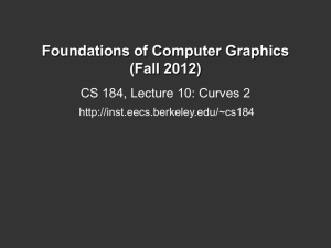 Foundations of Computer Graphics (Fall 2012) CS 184, Lecture
