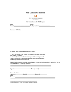PhD Committee Petition