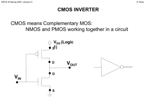 CMOS INVERTER V CMOS means Complementary MOS: