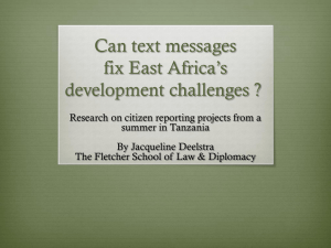Can text messages fix East Africa's development challenges ?