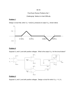 EE 40  Final Exam Review Problems Set 1