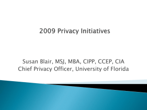 Privacy Initiatives