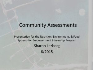 Community Assessment Presentation_6_2015
