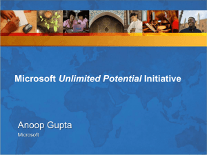 Anoop Gupta Unlimited Potential Microsoft