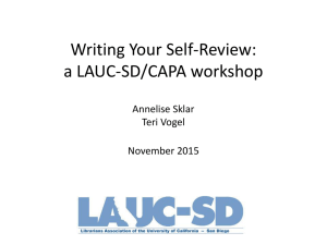Writing Your Self-Review