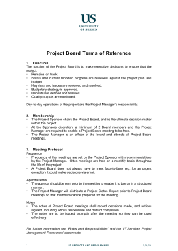 Project Board Terms of Reference [DOCX 49.52KB]