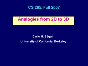 Analogies from 2D to 3D