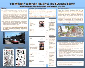 The Wealthy-Jefferson Initiative: The Business Sector