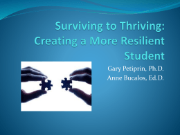 Creating a More Resilient Student