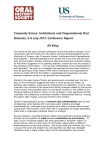 Corporate Voices: Institutional and Organisational Oral Jill Kirby