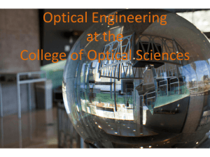 Optical Engineering Overview 2013 (19Mb)