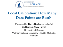Local Calibration: How Many Data Points are Best?