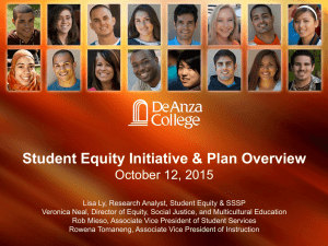 2015-16 Student Equity Initiative plan and overview presentation