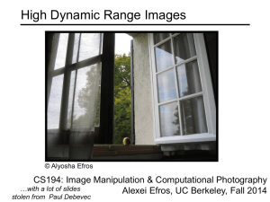 High Dynamic Range Images CS194: Image Manipulation & Computational Photography