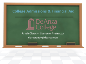 College Admissions Financial Aid