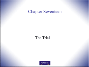 Chapter Seventeen The Trial