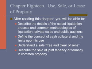 Chapter Eighteen.  Use, Sale, or Lease of Property