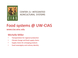 UWEX Food Systems M Miller